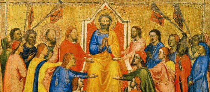 Jacopo_di_Cione_Saint_Petexr_Enthroned_Between_Saint_Paul_and_the_Faithful-800x350