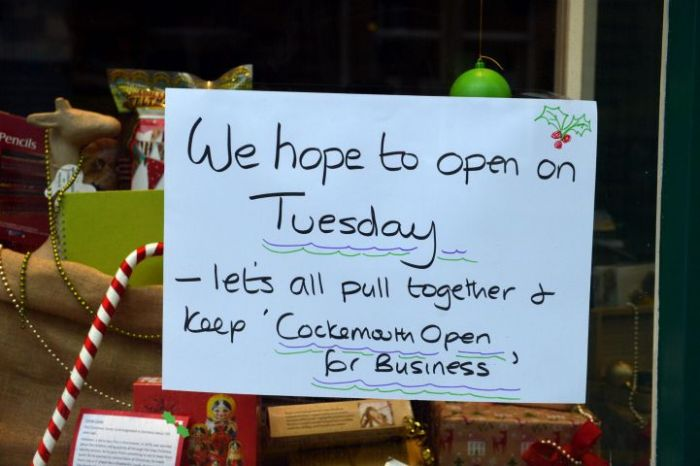 West Cumbria Floods 2015 Cockermouth - Shops are optimistic about getting reopen quickly. Pic Tom Kay Monday 7th December 2015 50081941T035.JPG