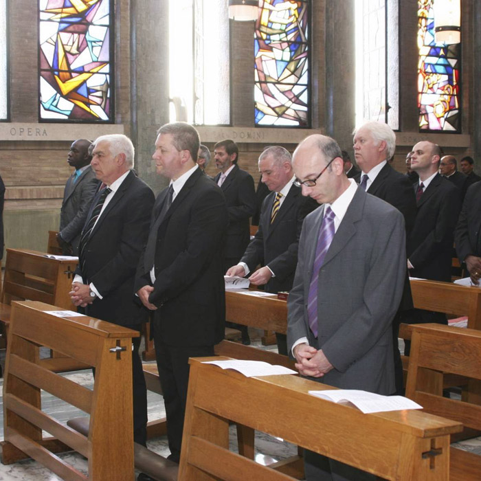 Ministry of Lector candidates during Mass. May 8, 2013.