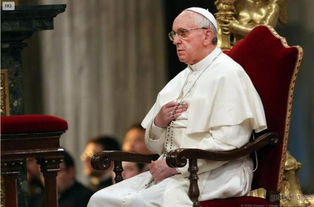 Image result for pope francis praying the rosary